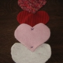 Felted Wool Valentine Runner