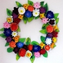 Upcycled Egg Carton Wreath