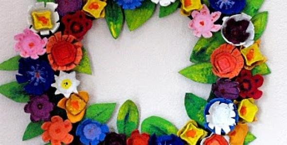 Upcycled Egg Carton Wreath