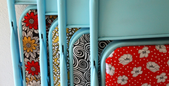 Upcycle Old Folding Chairs