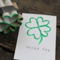 Upcycled Shamrock Stamp