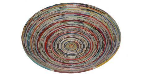 Recycled magazine bowl lr 1