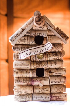 Upcycled wine cork birdhouse upcycle magazine for How to build a birdhouse out of wine corks